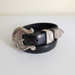 Tony Lama   Women's Cowgirl Leather Belt USA Sz 28